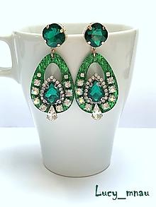 Náušnice - Náušnice Swarovski smaragdovo-zelené :) - 10612617_