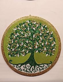 Obrazy - Strom života kruh 22cm - 10611757_