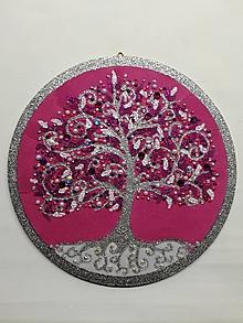 Obrazy - Strom života kruh 22cm - 10611770_