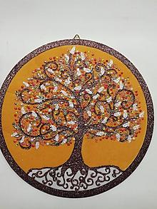 Obrazy - Strom života kruh 22cm - 10611784_
