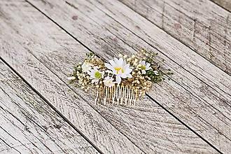 Ozdoby do vlasov - Kvetinový hrebienok... Na želanie - 10611994_