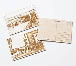 Papiernictvo - Drevené pohľadnice Piešťany - 10612829_