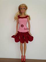Hračky - Háčkované šaty pre Barbie - 10611160_