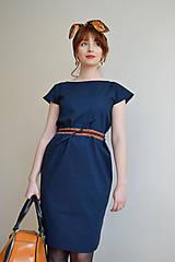 Šaty - Modré šaty - 10612702_