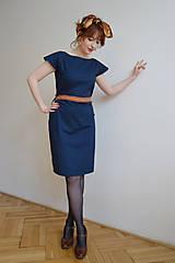 Šaty - Modré šaty - 10612703_