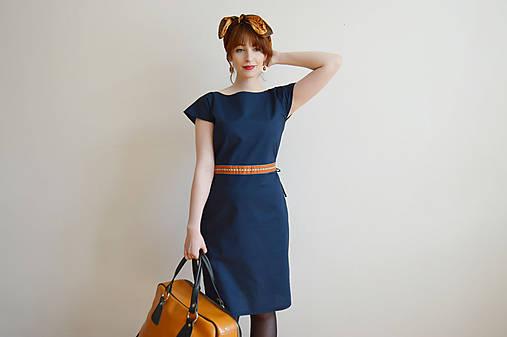 Šaty - Modré šaty - 10612701_