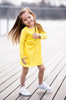 Detské oblečenie - ŠATY POCKET (86 - Lososová) - 10611310_