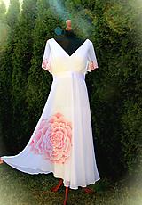 Šaty - Maľba na svadobné šaty... - 10612049_