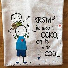 Tričká - Originálne maľované tričko pre KRSTNÚ/ KRSTNÉHO s 2 postavičkami (KRSTNÝ + chlapček 1) - 10613337_