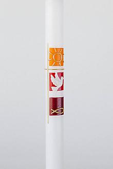 Svietidlá a sviečky - Honesty červená - 10613540_