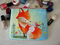 Taštičky - Taštička na kosmetiku - Liška, zajíček a ptáček - 10611232_