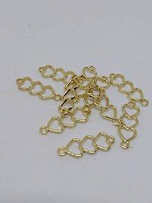 Komponenty - Kovové tvary, medzikusy (Srdiečka) - 10612877_