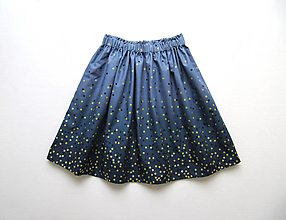 Detské oblečenie - sedemdesiat sukien mala... (indigo) - 10610548_