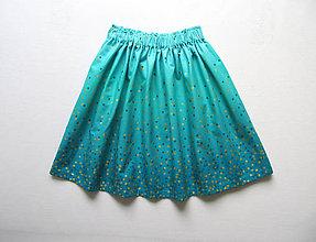Detské oblečenie - sedemdesiat sukien mala... (turquoise) - 10610599_