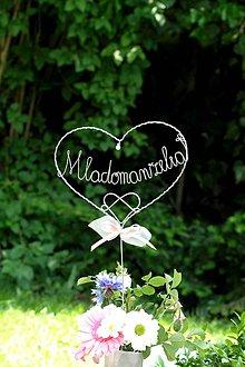 Dekorácie - Mladomanželia  (Strieborná) - 10612457_