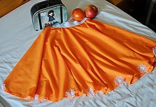 Detské oblečenie - Pomarančová suknička - 10612023_