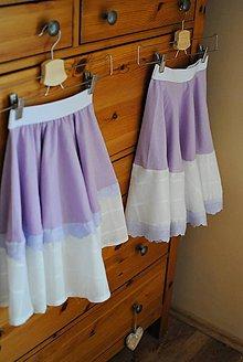 Detské oblečenie - Levanduľové sukničky pre sestričky - 10612098_
