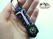 Kľúčenky - Kompas na batoh+cepínik - 10613860_