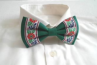 Doplnky - Motýlik folk-zelený - 10614368_