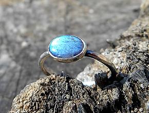 Prstene - Strieborný Prsteň s Labradoritom - 10615173_