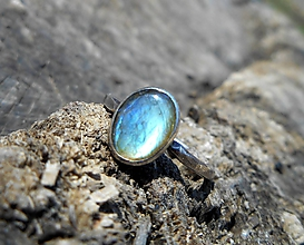 Prstene - Strieborný Prsteň s Labradoritom - 10615290_