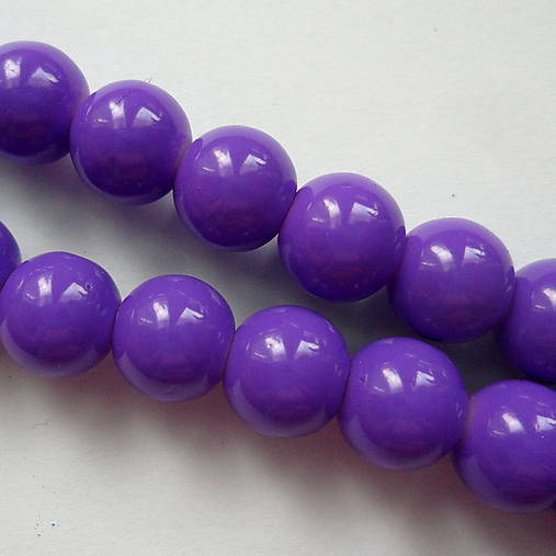 Sklenené korálky Panacolor ™ 8mm-10ks (fialová)