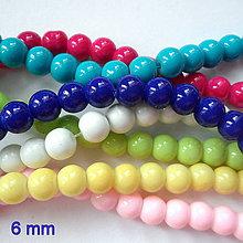 Korálky - Sklenené perly Panacolor ™ 6mm-20ks - 10614103_