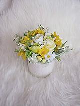 Dekorácie - Veľkonočná dekorácia žltozelená - 10615055_