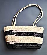 Kabelky - Letná plážová taška, Black - 10614520_