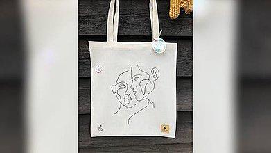 Iné tašky - ♥ Plátená, ručne ručne vyšívaná taška ♥ (XY4) - 10614227_