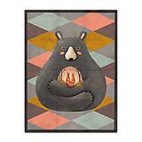 Prikrývka Love is in the Bear (178x135 cm)