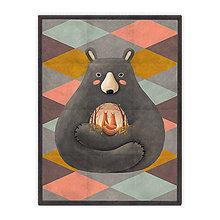Úžitkový textil - Prikrývka Love is in the Bear (178x135 cm) - 10615383_