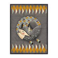 Úžitkový textil - Prikrývka Sleeping Grey Foxy (178x135 cm) - 10615413_