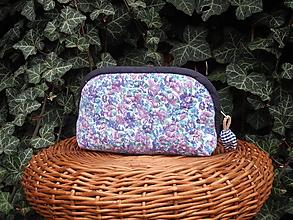 Taštičky - taštička fialové kvety - 10614929_