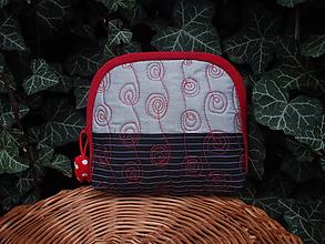 Taštičky - taštička čierno-červená - 10614963_