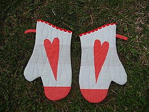 Úžitkový textil - set rukavic Srdce na dlani - 10614994_