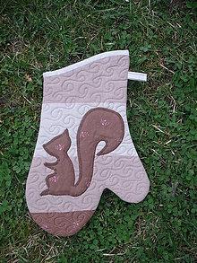 Úžitkový textil - kuchynské rukavice pravé - 10615064_