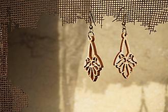 Náušnice - Náušnice drevené - Ornament 3 - 10615968_