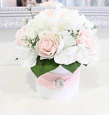 Dekorácie - Flowerbox so štrasovou ozdobou - 10614262_