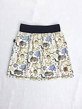 Detské oblečenie - Na slnku zmení farbu - Kúzelná sukňa vzor Zvieratká - 10615960_