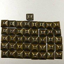 Korálky - Našívacie kovové pliešky - štvorec  10x10 mm bronzové - 10613962_