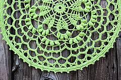 Úžitkový textil - Háčkovaný obrúsok Mako - 10613854_