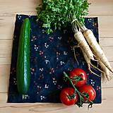 Úžitkový textil - Voskový obrúsok (Kvetinky) - 10615341_