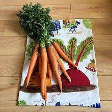 Úžitkový textil - Zero waste Zeleninoví kamoši (Mrkva a cvikla - veľké vrecúško) - 10615112_
