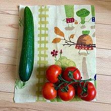 Úžitkový textil - Voskový obrúsok (Zeleninový) - 10615332_