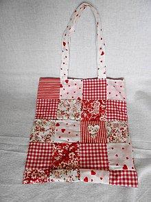 Nákupné tašky - malá taška-červená - 10615863_