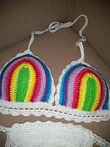 Bielizeň/Plavky - Farebné háčkované plavky - 10614482_