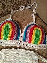 Bielizeň/Plavky - Farebné háčkované plavky - 10614487_
