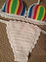 Bielizeň/Plavky - Farebné háčkované plavky - 10614489_