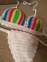 Bielizeň/Plavky - Farebné háčkované plavky - 10614491_
